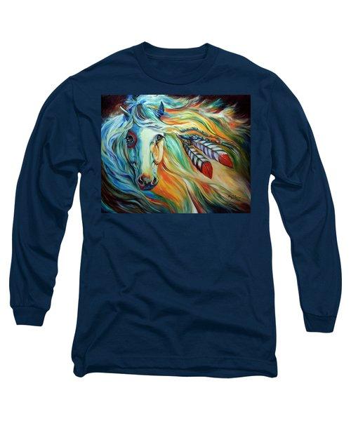 Breaking Dawn Indian War Horse Long Sleeve T-Shirt