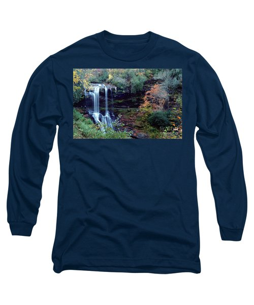 Long Sleeve T-Shirt featuring the painting Bridal Veil Waterfalls by Debra Crank