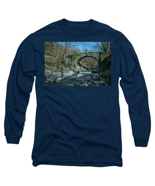 Bridge Over Peaceful Waters - Il Ponte Sul Ciae' Long Sleeve T-Shirt
