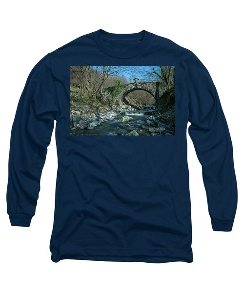 Bridge Over Peaceful Waters - Il Ponte Sul Ciae' Long Sleeve T-Shirt