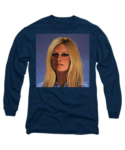 Brigitte Bardot 3 Long Sleeve T-Shirt by Paul Meijering