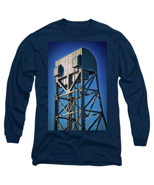 Broadway Bridge South Tower Detail 4 Chromatic Long Sleeve T-Shirt