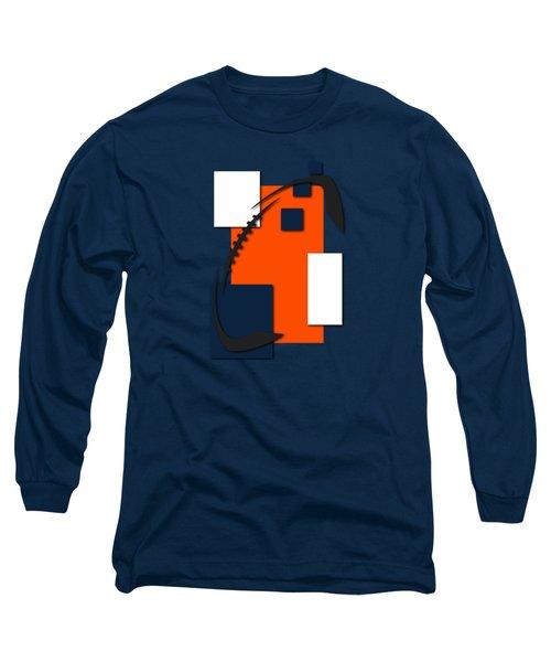 Broncos Abstract Shirt Long Sleeve T-Shirt by Joe Hamilton