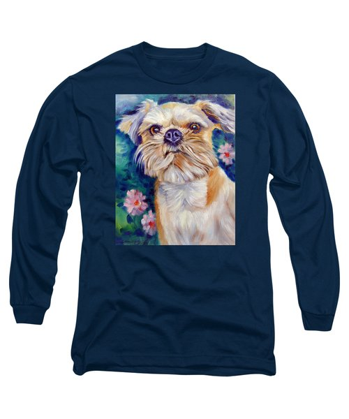 Brussels Griffon Long Sleeve T-Shirt by Lyn Cook