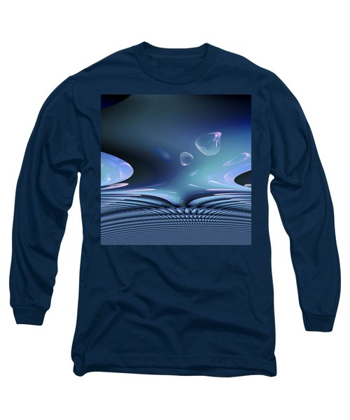Bubble Abstract Long Sleeve T-Shirt by Robert G Kernodle