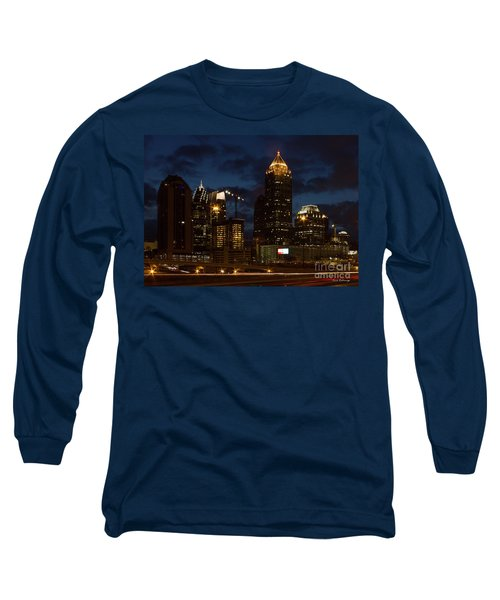 Long Sleeve T-Shirt featuring the photograph Building Boom Midtown Atlanta Construction Art by Reid Callaway