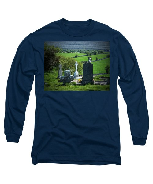 Burren Crosses County Clare Ireland Long Sleeve T-Shirt