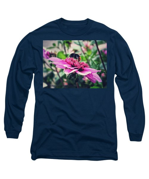 Long Sleeve T-Shirt featuring the photograph Busy, Busy Bee by Karen Stahlros