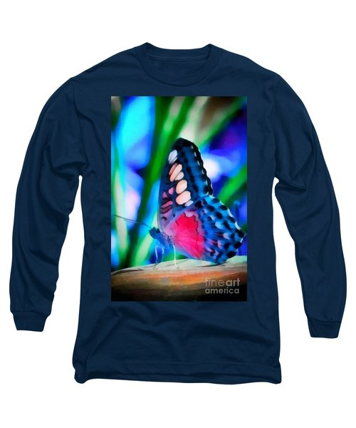 Butterfly Realistic Painting Long Sleeve T-Shirt