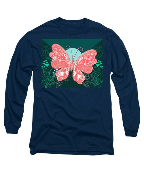 Butterfly Valentine Long Sleeve T-Shirt