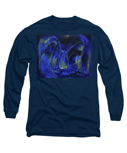 Long Sleeve T-Shirt featuring the painting Buzzards Banquet by Christophe Ennis
