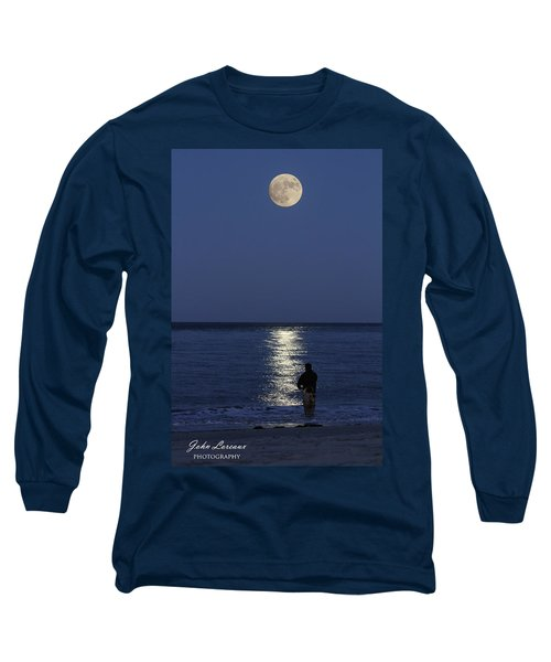 By The Light Of The Supermoon Long Sleeve T-Shirt by John Loreaux