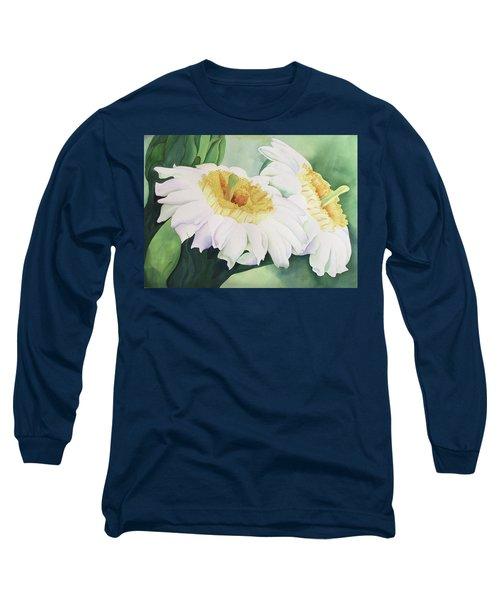 Cactus Flower Long Sleeve T-Shirt by Teresa Beyer