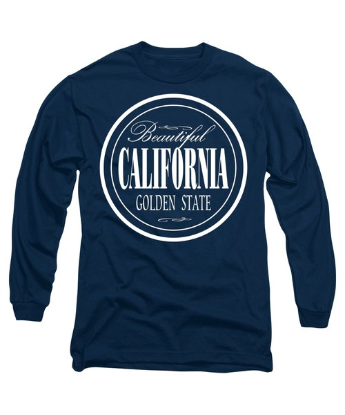 California Golden State - Tshirt Design Long Sleeve T-Shirt by Art America Gallery Peter Potter