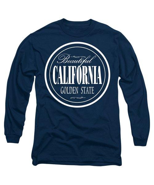California Golden State Design Long Sleeve T-Shirt