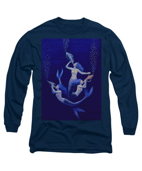 Call Of The Mermaids Long Sleeve T-Shirt by Sue Halstenberg