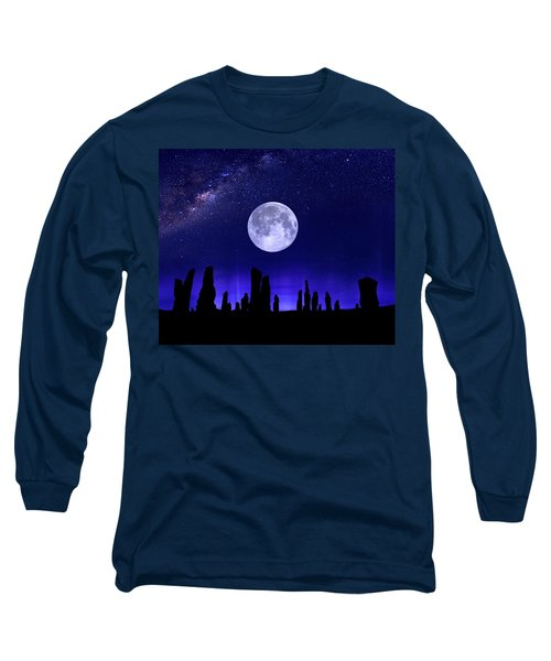 Callanish Stones Under The Supermoon.  Long Sleeve T-Shirt