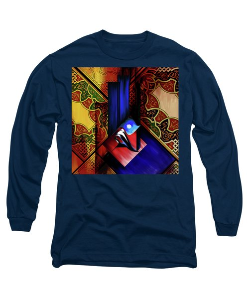 Long Sleeve T-Shirt featuring the painting Calligraphy 102 1 1 by Mawra Tahreem