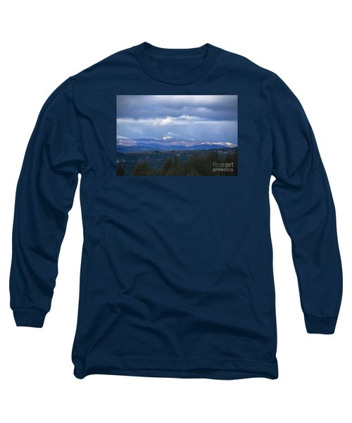 Camel's Hump Mountain  Long Sleeve T-Shirt by Diane Diederich