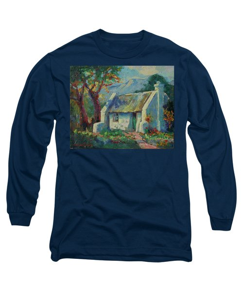 Cape Cottage With Mountains Art Bertram Poole Long Sleeve T-Shirt by Thomas Bertram POOLE