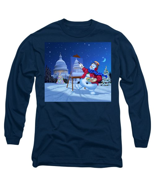 Capitol Snoman Long Sleeve T-Shirt by Michael Humphries