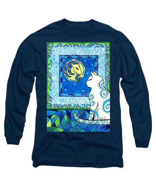 Capricorn Cat Zodiac Long Sleeve T-Shirt