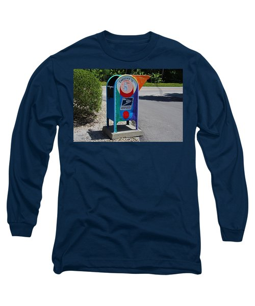 Long Sleeve T-Shirt featuring the photograph Captiva Island Mailbox- Horizontal by Michiale Schneider