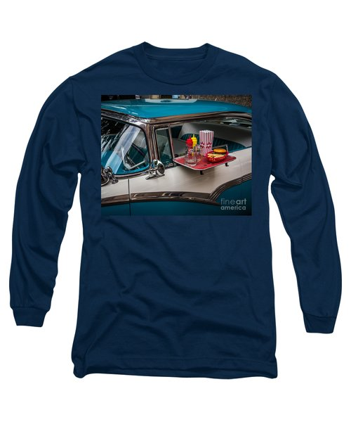 Car Hop Long Sleeve T-Shirt by Perry Webster