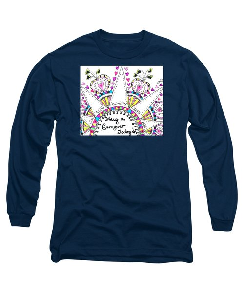 Caregiver Crown Of Hearts Long Sleeve T-Shirt