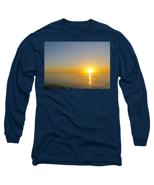 Caribbean Sunset Long Sleeve T-Shirt by Teresa Wing