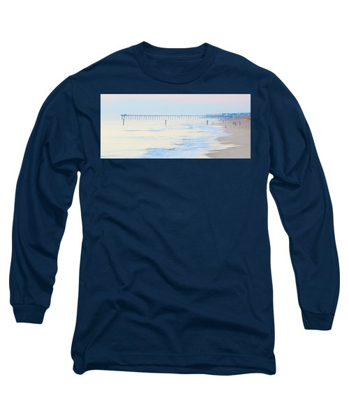 Carolina Beach Thanksgiving Day Long Sleeve T-Shirt by Glenn Gemmell