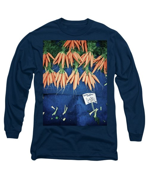 Carrots At The Market Long Sleeve T-Shirt by Tom Gowanlock