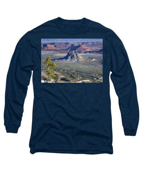 Long Sleeve T-Shirt featuring the photograph Castle Valley Overlook by Alan Toepfer