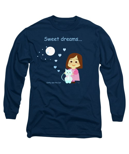 Cathy And The Cat Sweet Dreams Long Sleeve T-Shirt