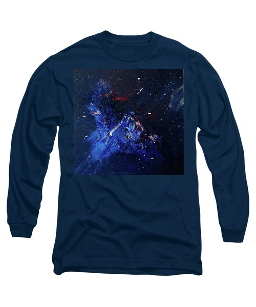 Long Sleeve T-Shirt featuring the painting Celestial Harmony by Michael Lucarelli