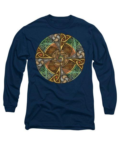 Celtic Aperture Mandala Long Sleeve T-Shirt by Kristen Fox