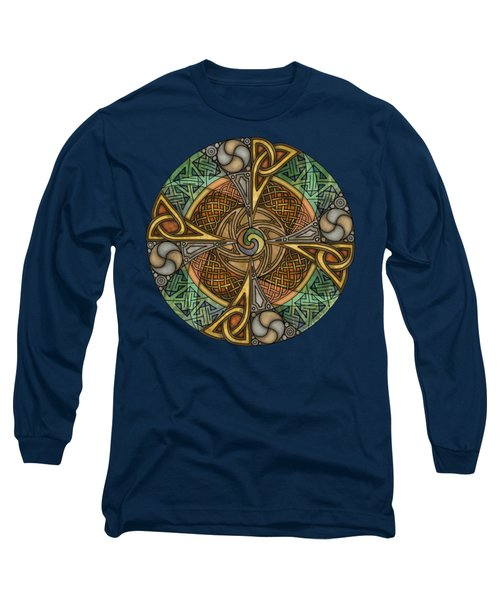 Celtic Aperture Mandala Long Sleeve T-Shirt