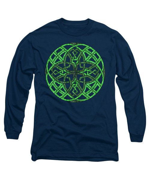 Celtic Clover Mandala Long Sleeve T-Shirt