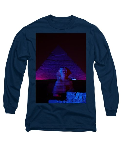 Cheops In Blue Long Sleeve T-Shirt