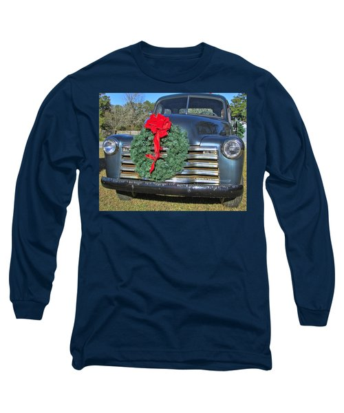 Long Sleeve T-Shirt featuring the photograph Chevy Christmas by Victor Montgomery