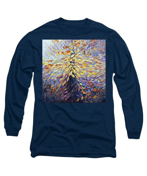 Long Sleeve T-Shirt featuring the painting Chi Of The Mighty Tree by Joanne Smoley