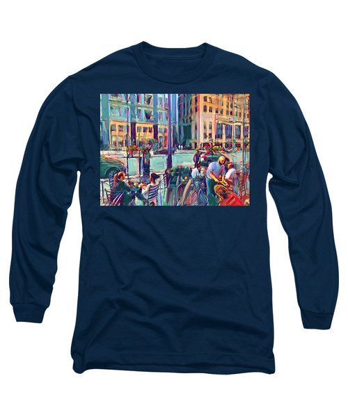 Chicago Cafe Long Sleeve T-Shirt
