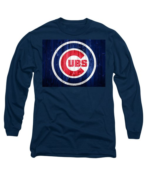 Chicago Cubs Barn Door Long Sleeve T-Shirt by Dan Sproul