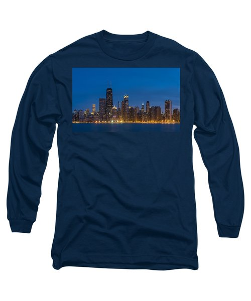 Chicago Skyline From North Ave Beach Long Sleeve T-Shirt