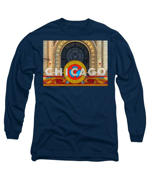 Chicago Theatre Sign Dsc2176 Long Sleeve T-Shirt by Raymond Kunst