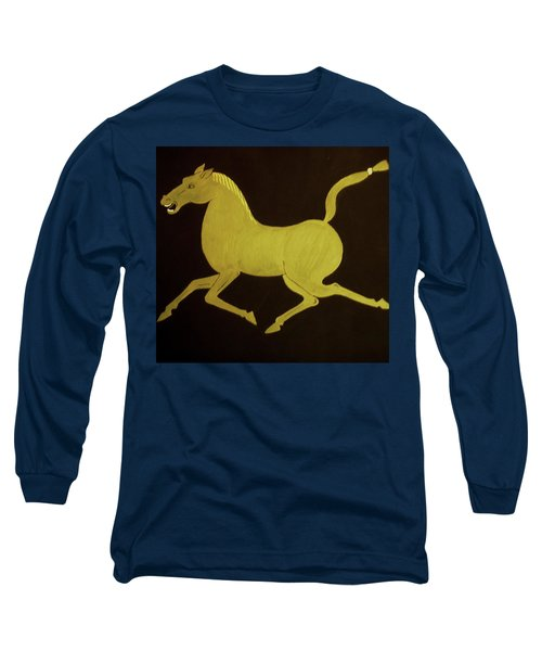 Chinese Horse Long Sleeve T-Shirt by Stephanie Moore