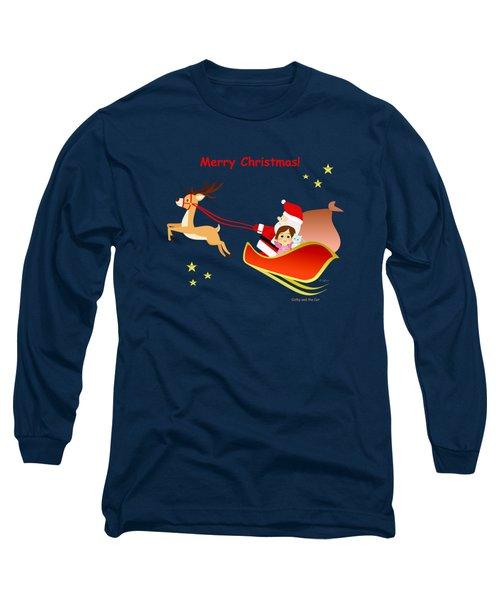 Christmas #3 And Text Long Sleeve T-Shirt