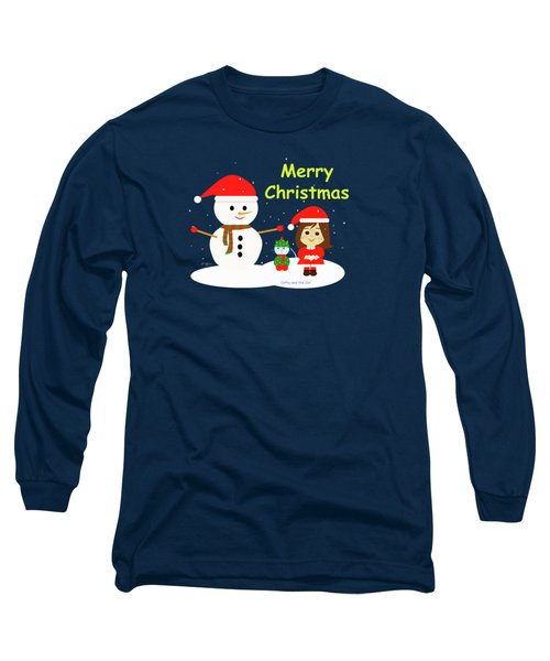 Christmas #5 And Text Long Sleeve T-Shirt