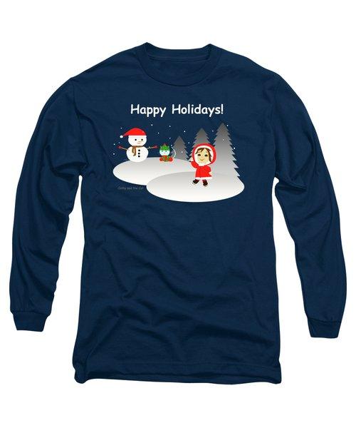 Christmas #6 And Text Long Sleeve T-Shirt
