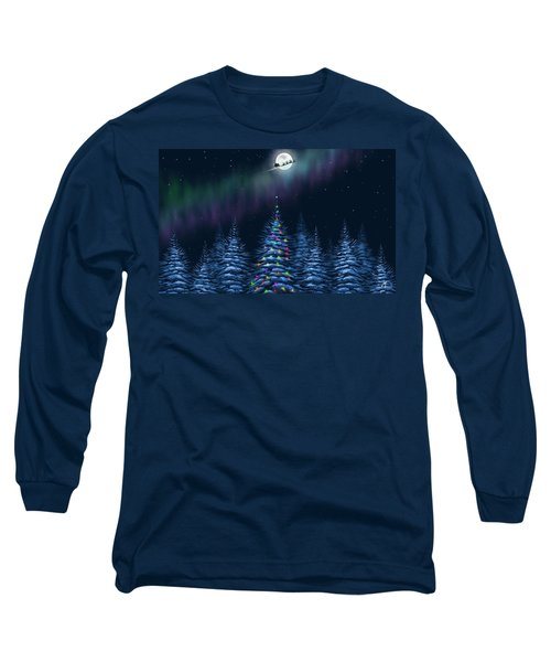 Long Sleeve T-Shirt featuring the painting Christmas Eve by Veronica Minozzi